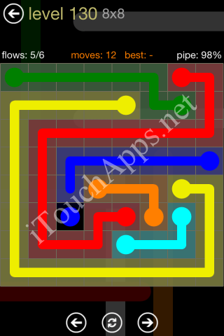Flow Game 8x8 Mania Pack Level 130 Solution