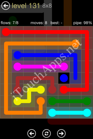 Flow Game 8x8 Mania Pack Level 131 Solution