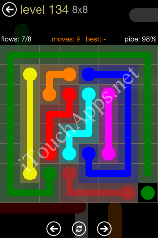Flow Game 8x8 Mania Pack Level 134 Solution