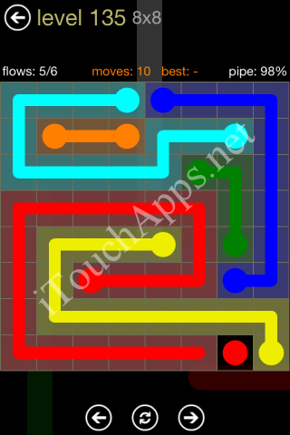 Flow Game 8x8 Mania Pack Level 135 Solution