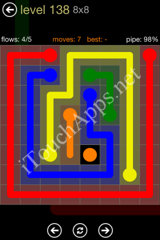 Flow Game 8x8 Mania Pack Level 138 Solution