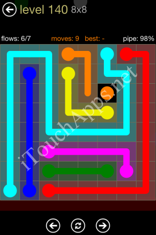 Flow Game 8x8 Mania Pack Level 140 Solution