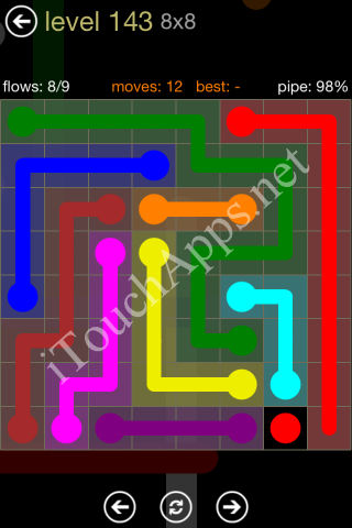 Flow Game 8x8 Mania Pack Level 143 Solution