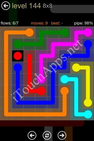 Flow Game 8x8 Mania Pack Level 144 Solution