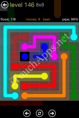 Flow Game 8x8 Mania Pack Level 146 Solution