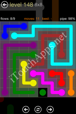 Flow Game 8x8 Mania Pack Level 148 Solution