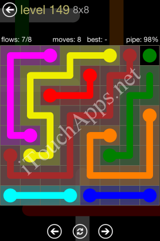 Flow Game 8x8 Mania Pack Level 149 Solution