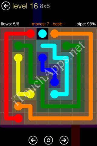 Flow Game 8x8 Mania Pack Level 16 Solution
