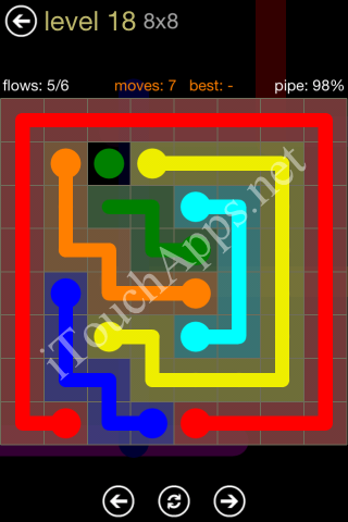 Flow Game 8x8 Mania Pack Level 18 Solution