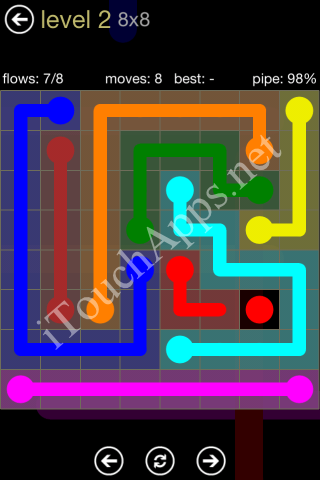 Flow Game 8x8 Mania Pack Level 2 Solution