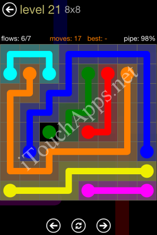 Flow Game 8x8 Mania Pack Level 21 Solution