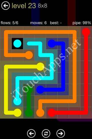 Flow Game 8x8 Mania Pack Level 23 Solution
