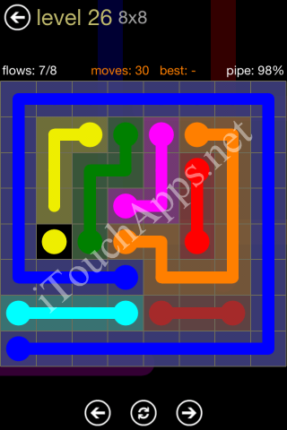 Flow Game 8x8 Mania Pack Level 26 Solution
