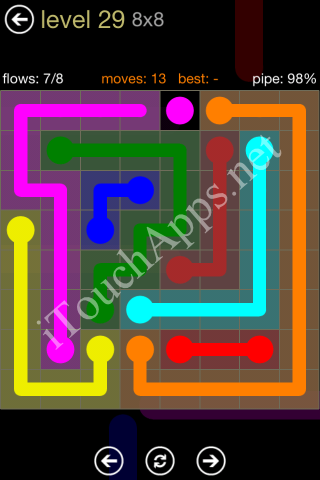 Flow Game 8x8 Mania Pack Level 29 Solution