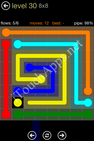 Flow Game 8x8 Mania Pack Level 30 Solution