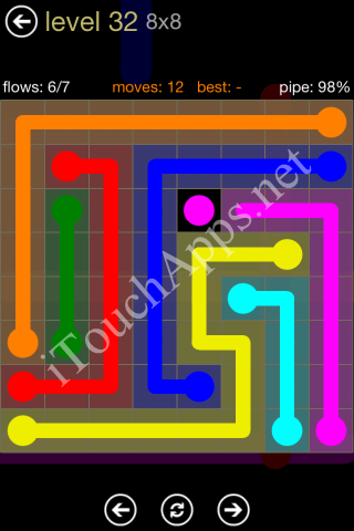 Flow Game 8x8 Mania Pack Level 32 Solution