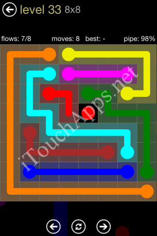 Flow Game 8x8 Mania Pack Level 33 Solution