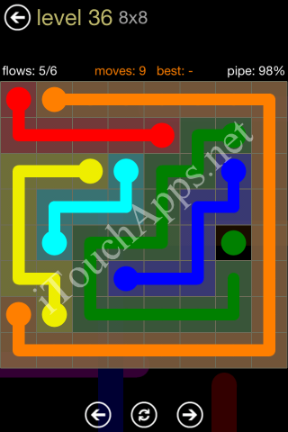 Flow Game 8x8 Mania Pack Level 36 Solution