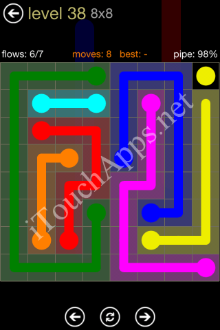 Flow Game 8x8 Mania Pack Level 38 Solution