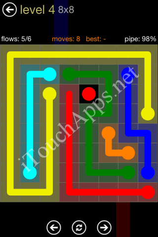 Flow Game 8x8 Mania Pack Level 4 Solution