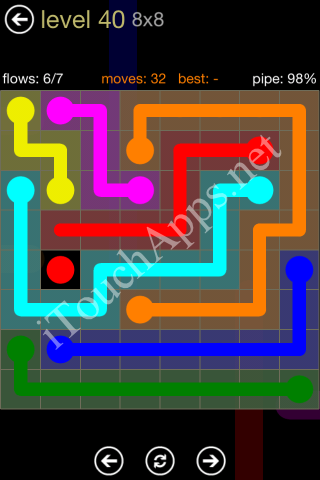 Flow Game 8x8 Mania Pack Level 40 Solution