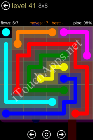 Flow Game 8x8 Mania Pack Level 41 Solution