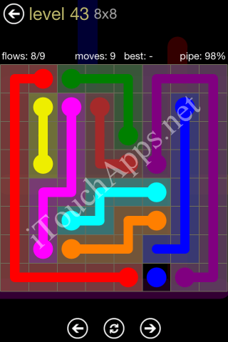 Flow Game 8x8 Mania Pack Level 43 Solution