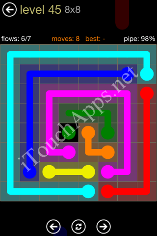 Flow Game 8x8 Mania Pack Level 45 Solution