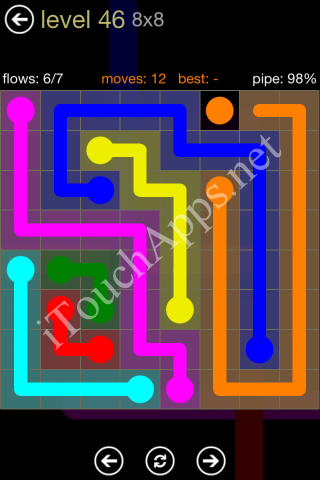 Flow Game 8x8 Mania Pack Level 46 Solution