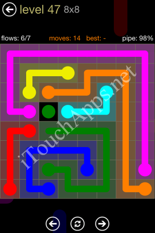 Flow Game 8x8 Mania Pack Level 47 Solution