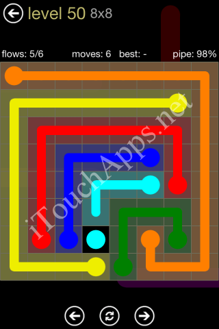 Flow Game 8x8 Mania Pack Level 50 Solution