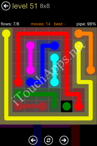 Flow Game 8x8 Mania Pack Level 51 Solution