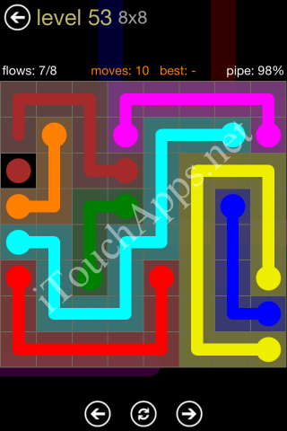 Flow Game 8x8 Mania Pack Level 53 Solution
