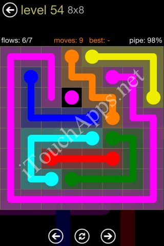 Flow Game 8x8 Mania Pack Level 54 Solution