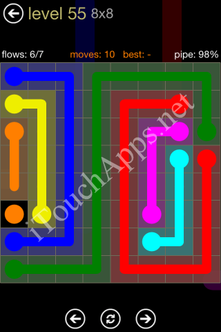 Flow Game 8x8 Mania Pack Level 55 Solution