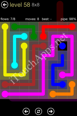 Flow Game 8x8 Mania Pack Level 58 Solution