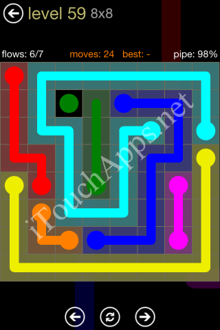Flow Game 8x8 Mania Pack Level 59 Solution