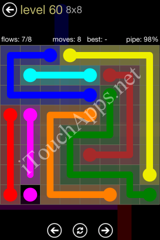 Flow Game 8x8 Mania Pack Level 60 Solution