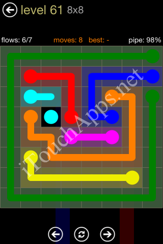 Flow Game 8x8 Mania Pack Level 61 Solution