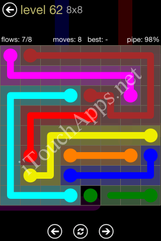 Flow Game 8x8 Mania Pack Level 62 Solution