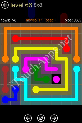 Flow Game 8x8 Mania Pack Level 66 Solution
