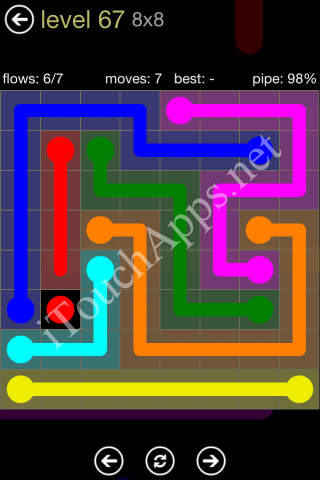 Flow Game 8x8 Mania Pack Level 67 Solution