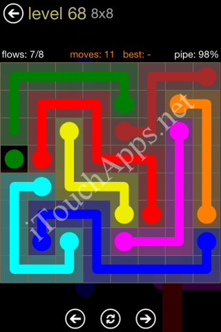 Flow Game 8x8 Mania Pack Level 68 Solution