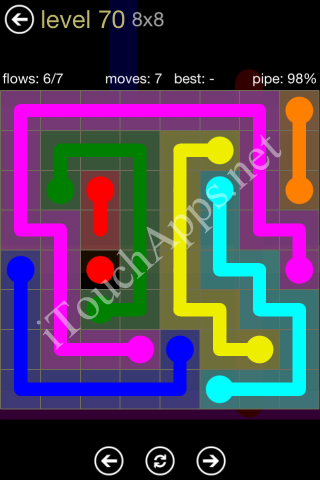 Flow Game 8x8 Mania Pack Level 70 Solution