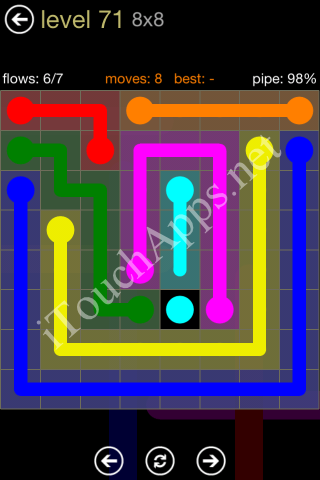 Flow Game 8x8 Mania Pack Level 71 Solution
