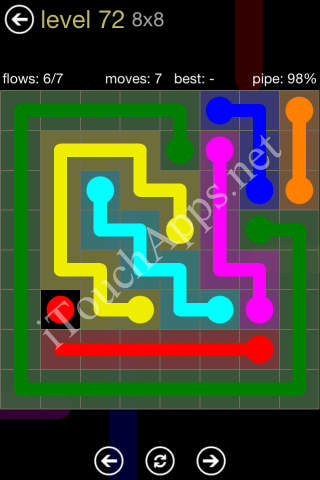 Flow Game 8x8 Mania Pack Level 72 Solution