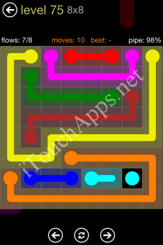 Flow Game 8x8 Mania Pack Level 75 Solution