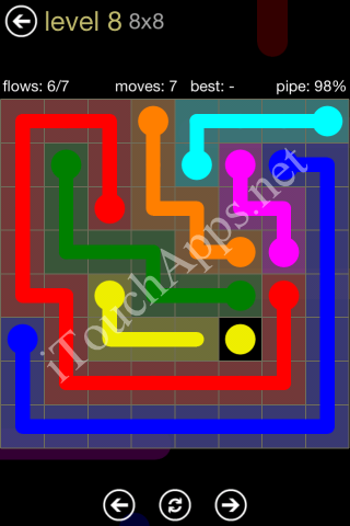 Flow Game 8x8 Mania Pack Level 8 Solution