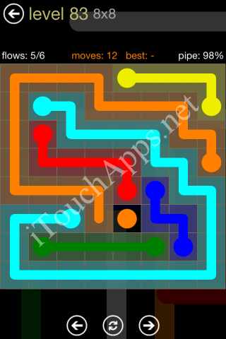 Flow Game 8x8 Mania Pack Level 83 Solution