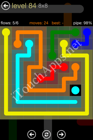 Flow Game 8x8 Mania Pack Level 84 Solution